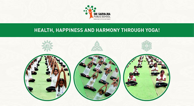 Yoga session at the best CBSE School in Bangalore